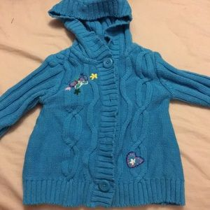 Cute button up sweater 12 mos